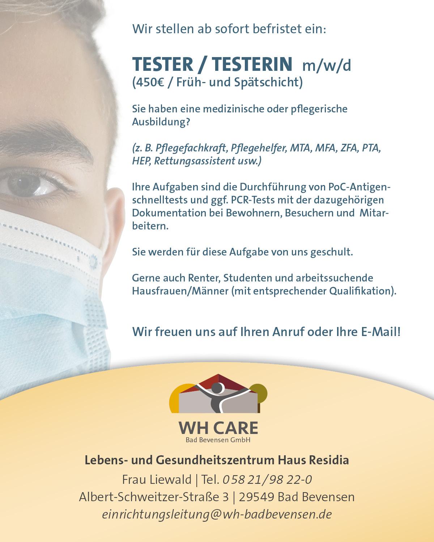 Tester*innen für Anti-Gen-Test gesucht (m/w/d)